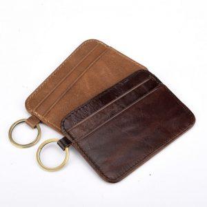 ví da đựng thẻ móc khóa d11-1