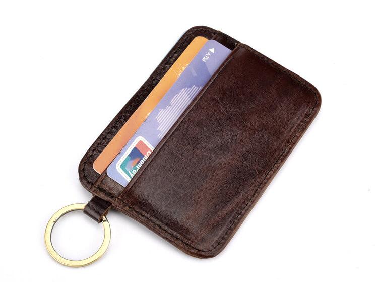 ví da đựng thẻ móc khóa d11-2