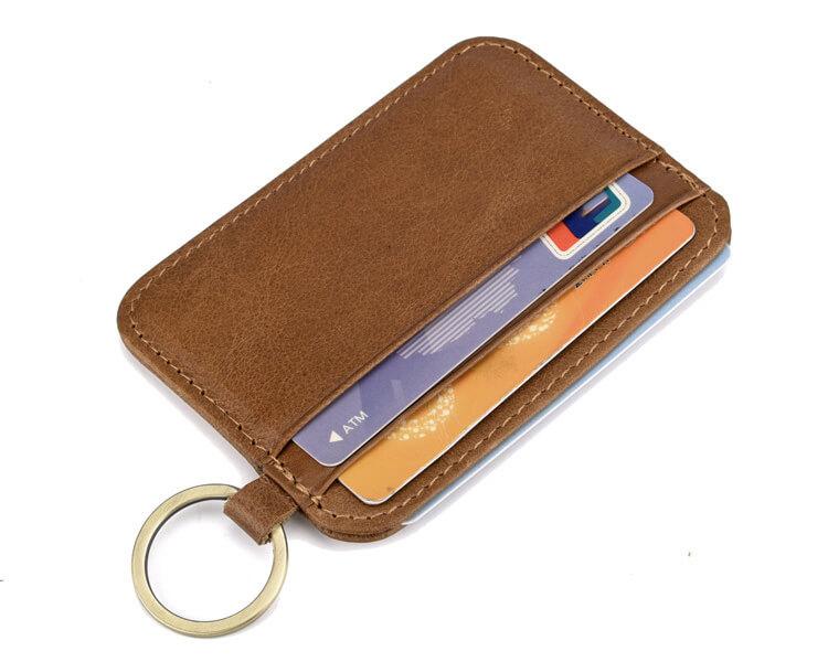ví da đựng thẻ móc khóa d11-3