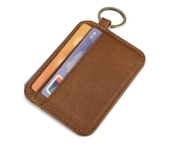 ví da đựng thẻ móc khóa d11-4